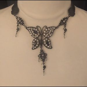 Beautiful Butterfly Necklace. Costume.